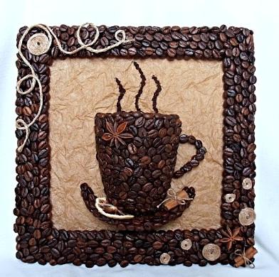 Поделки из кофейных зерен своими руками мастер