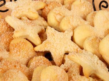 Печенье из песочного теста с творогом