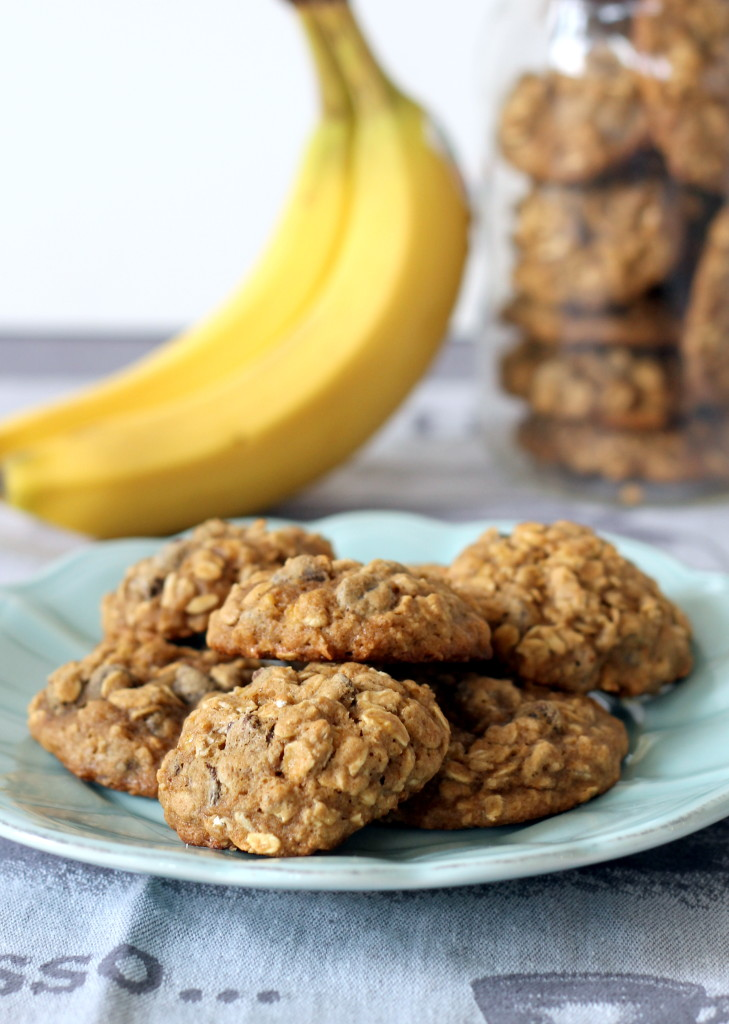 Рецепт овсяного печенья с бананом
