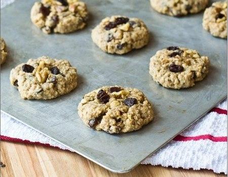 Рецепт овсяного печенья с изюмом