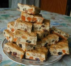 Печенье Мазурка с сухофруктами