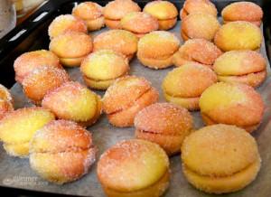 печенье персики со сгущенкой