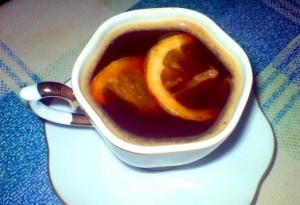 Кофе с лимонной цедрой