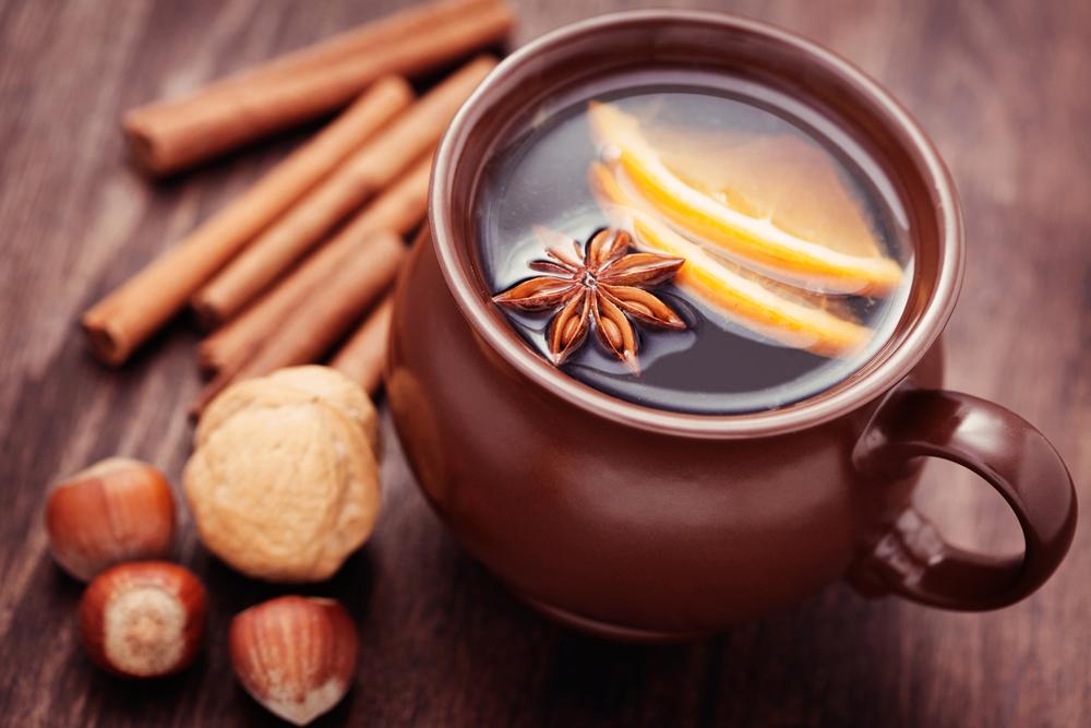 Кофе с лимоном и корицей