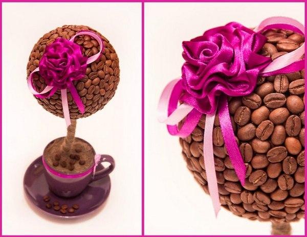Цветок своими руками из кофе 856