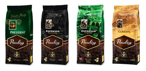 Paulig кофе в зернах