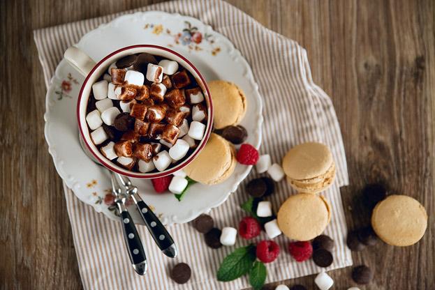 Шоколад с маршмеллоу