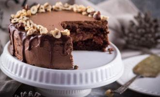 кофейный торт с глазурью